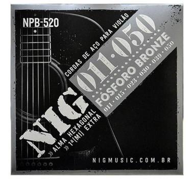 Encordoamento Violao Aco Fosforo Bronze Nig Npb520 011