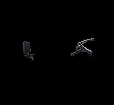 Kit Acessorios P/ Instrumentos De Cordas Kit C/2 Itens - Afinador + Capotraste