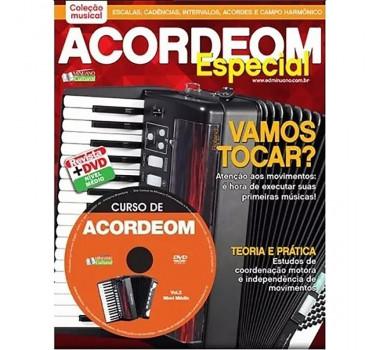METODO REVISTA DVD ACORDEON VOLUME II EDITORA MINUANO CULTURA
