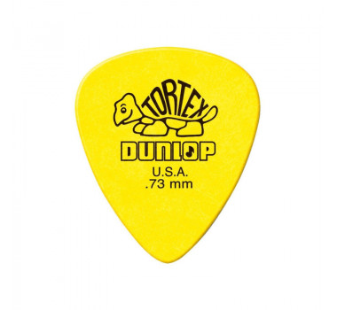 Palheta Cordas Dunlop Tortex 0,73mm Amarela