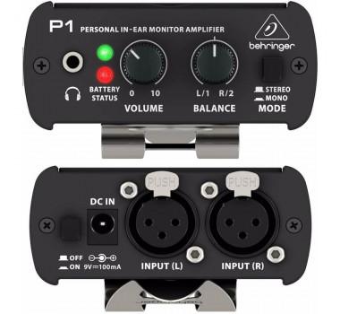 POWER PLAY BEHRINGER AMP DE FONE P1