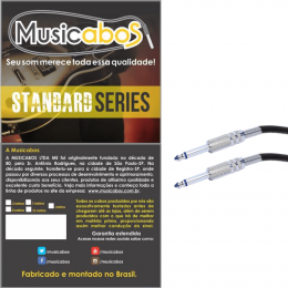 Cabo Musicabos 3m Serie Standard 0,20 6mm P10 P10 Ms3p10