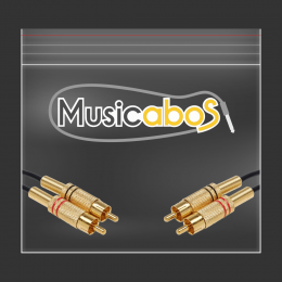 Cabo Y Musicabos 1.5m Serie Audio Plus Solution Phillips 2x0,50 2rca 2rca Maps1.5rca