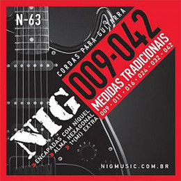 Encordoamento Guitarra Nig N63 009