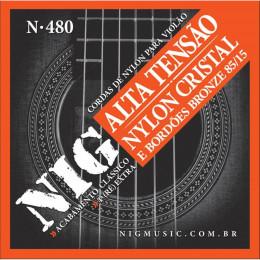 ENC VIOLAO NYLON NIG TENSAO ALTA N480