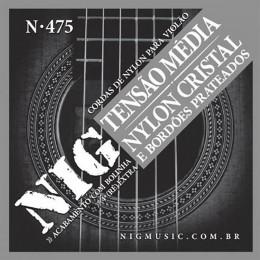 Encordoamento Violao Nylon Nig Tensao Media N475